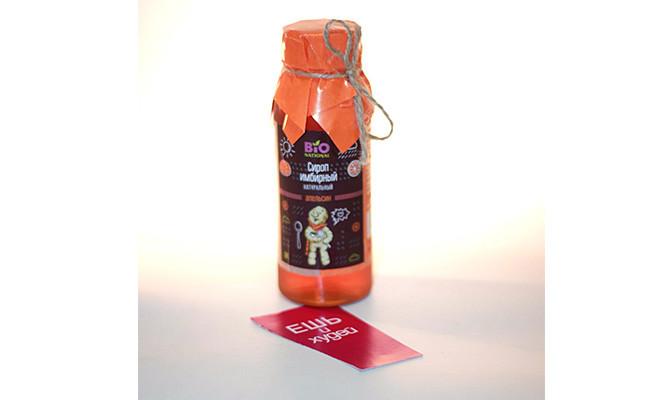 Имбирный сироп натуральный (апельсин) 250мл Bionational