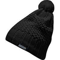 Шапка спортивная женская adidas W Culture Wool W56999 (черная, акрил, теплая, внутри флис, с логотипом адидас)