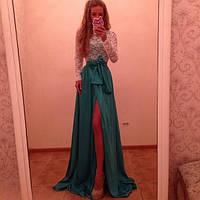 "Красивое платье "" Бритни "",бирюзовая  юбка . Арт-8825/74"