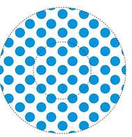 "Форма/мафина ""Горошек синий""(код 02471)"
