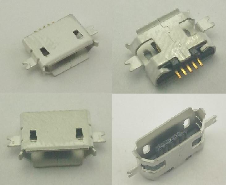 Роз'єм Micro USB, Micro USB Гніздо, Micro USB роз'єм. №6. 1 шт
