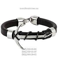 Кожаный браслет с якорем Rolex SK-4007-0007