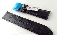 Ремешок Hightone, кожаный, анти-аллергенный, черный матов, фото 1
