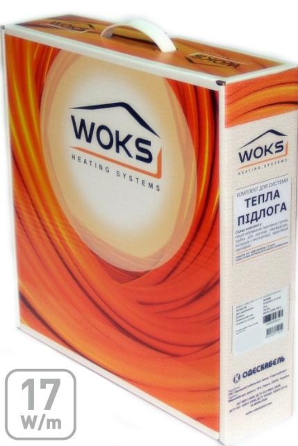 Двухжильный нагревательный кабель Woks 17, 1350 Вт, площадь обогрева 7,1 — 10,4 м²