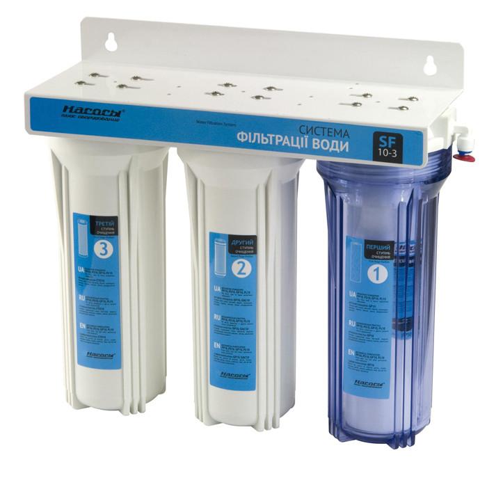 """SF10-3 система фильтрации воды трехступенчатая с краном ,""""Насосы+""""  ."""