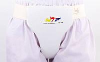 Защита паховая женская PU WTF BO-4008-M р. M (наполнит.-пенополиуретан, белый, крепл. на резинке)
