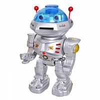 Игрушка робот на пульте управления стреляет дисками