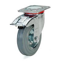 Колеса поворотные с тормозом и площадкой (13 серия)