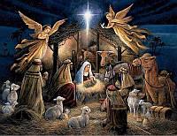"""Картина для рисования камнями Diamond painting Алмазная вышивка """"Рождение Иисуса Христа"""""""