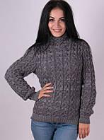 Женский стильный теплый свитер Мила серый