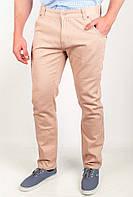 Необычные мужские брюки прилегающего кроя из приятного к телу хлопка светло-бежевые, темно-синие