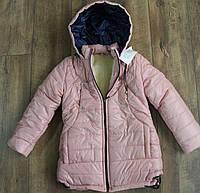Зимнее пальто на меху для девочек.  146 рост