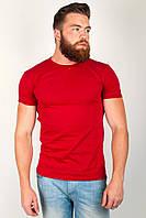 Стильная мужская футболка для стильных мужчин без лишних детелей белая, бордо, голубая, электрик