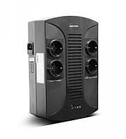 ИБП LogicPower 850VA-PS AVR, 4 евророзетки, 5 ступ. AVR, 8.0Ач12В