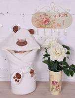 """Зимний велюровый Конверт - одеяло  на выписку """"Панда"""" (молочный) , фото 1"""