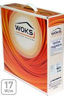 Двухжильный нагревательный кабель Woks 17, 2400 Вт, площадь обогрева 12,6 — 18,5 м²