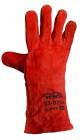 Перчатки спилковые с крагой красные MASTER TOOL