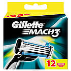 Сменные кассеты для бритья Gillette Mach 3 (12 шт.) KG1710721, фото 2