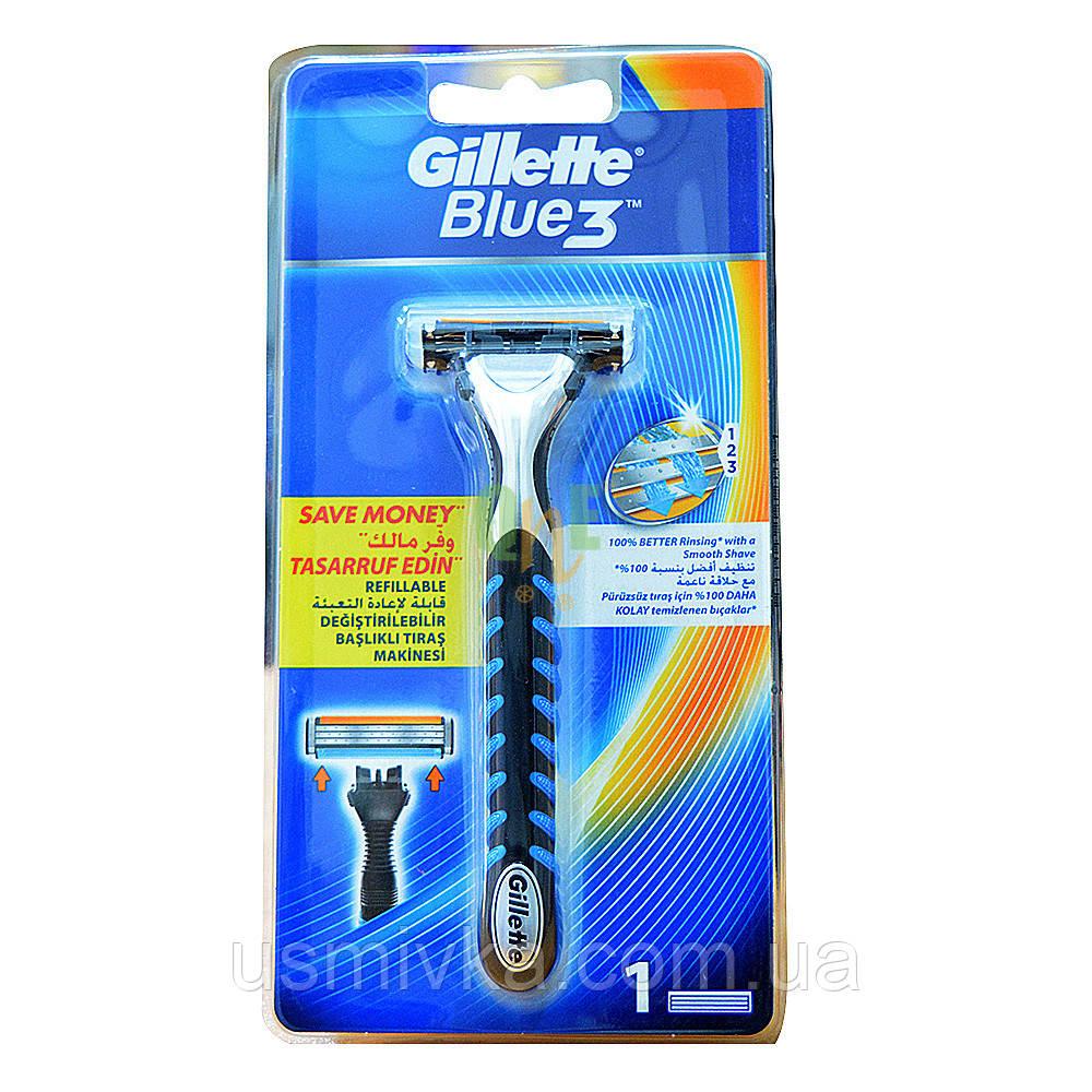 Бритвенный станок Gillette Blue 3 и 1 кассета GS1710755