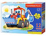 Пазлы MAXI, Забавный экскаватор, 12 элементов Castorland В-120024, фото 3