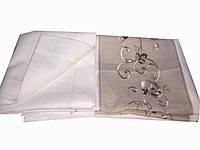 Льняная скатерть с вышивкой