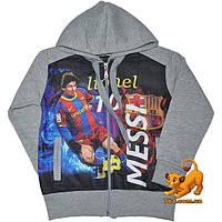 """Детская теплая кофта """"Messi"""" , из трикотажа (начес) , на зиму , для мальчика от 7-10 лет"""