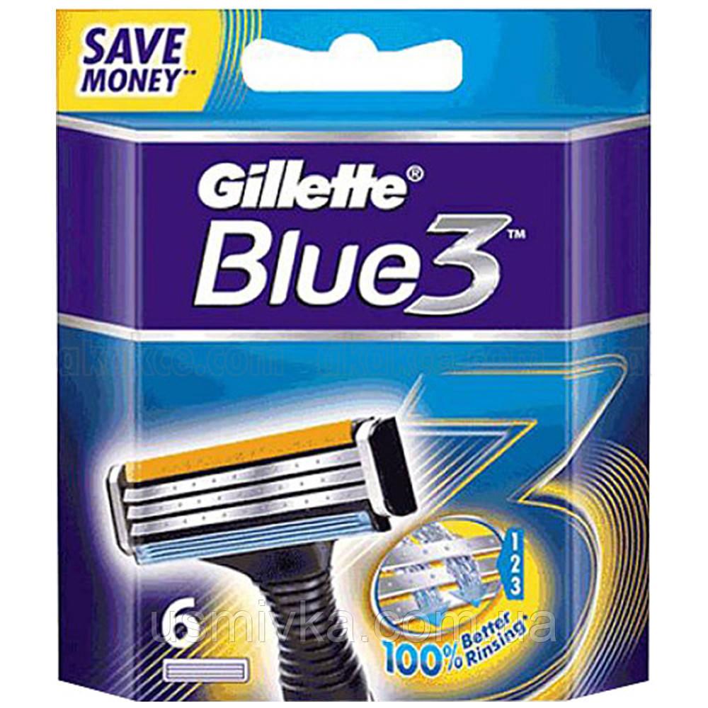 Сменные кассеты для бритья Gillette Blue 3 (6шт.) KG1710702