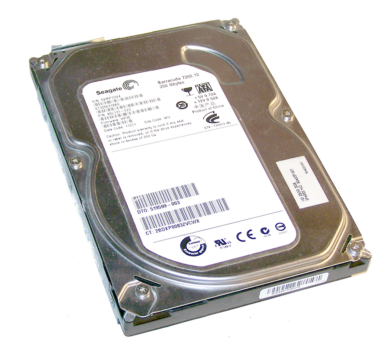 "Жесткий диск 3.5 Seagate 160Gb ST3160318AS ""Б/У"""