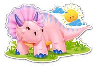 Пазлы MAXI, Розовый динозаврик, 12 элементов Castorland В-120048