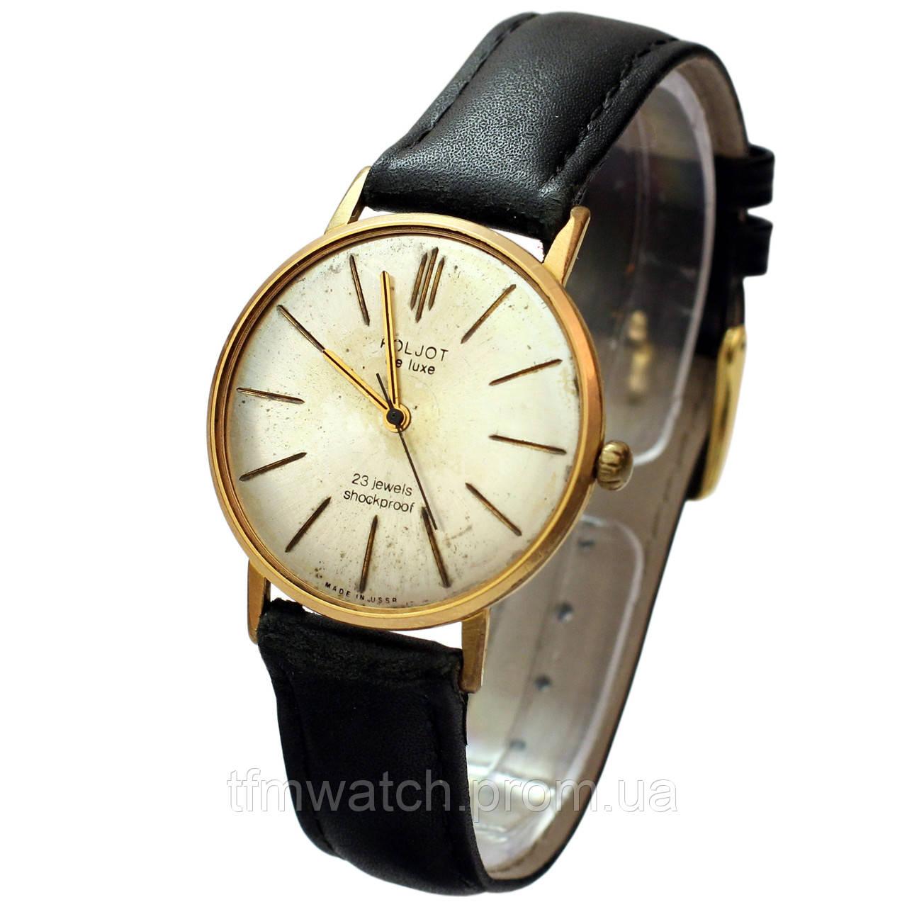 Позолоченные часы Poljot de luxe