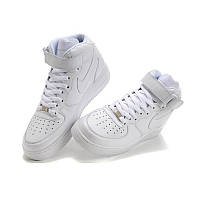 Кроссовки Nike Air Force White High (с мехом) женские