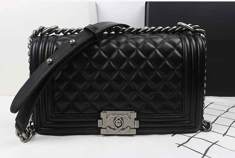 Женская сумки Chanel (Шанель) BOY Black - Интернет-магазин  excellentstyle.com. c03cfc14a03
