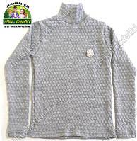 Серый свитер вязанный для девочки