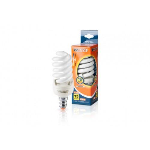 Лампа энергосберегающая Wolta дневной спираль 15Вт (75Вт) 10SFSP15E14