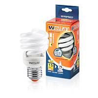 Лампа энергосберегающая Wolta теплый спираль 15Вт (75Вт) 10YFSP15E27