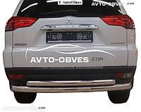 Защита задняя для Mitsubishi Pajero Sport