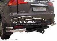 Защита задняя для Mitsubishi Pajero Sport углы двойные