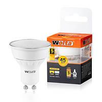 Светодиодная лампа Wolta 5Вт (35Вт) GU10, теплый 25YPAR16-230-5GU10
