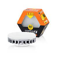 Светодиодная лампа Wolta точка 7Вт (60Вт) GX53, теплый