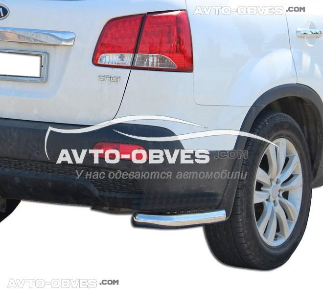 Захист заднього бампера Kia Sorento 2010-2012. кути одинарні