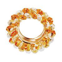 Точечный cветильник золото, золотой и прозрачный кристалл CT712-YL GD