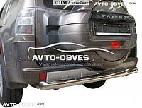 Защита заднего бампера Mitsubishi Pajero Wagon IV. Прямая труба, нержавейка