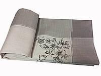 Шикарная расшитая скатерть цвета Капуччино  150-220 см
