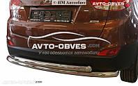 Защита заднего бампера Hyundai ix35, труба двойная
