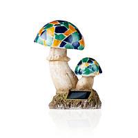 Садовый светильник WOLTA SOLAR Mash, 24см, каучук, Грибы
