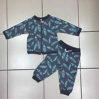 Детский Костюм спортивный с начёсом для мальчиков оптом р.6-12-18 месяцев