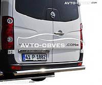 Защита заднего бампера Mercedes Sprinter 2013-..., прямая труба (п.к. AK)