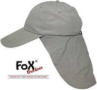"""Кепка с защитой для шеи Fox Outdoor """"Sahara"""" олива 10424B"""
