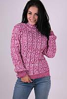 Женский стильный теплый свитер Мила розовый
