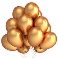 Букет воздушных шаров ''Золото'' металлик